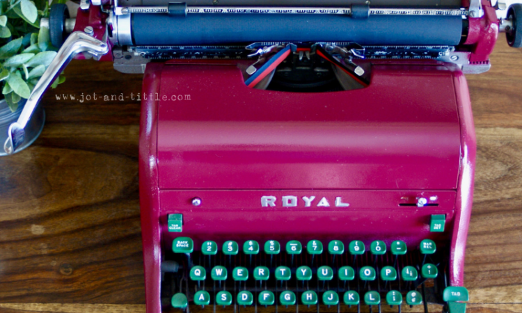 Vintage Royal Typewriter Jot & Tittle