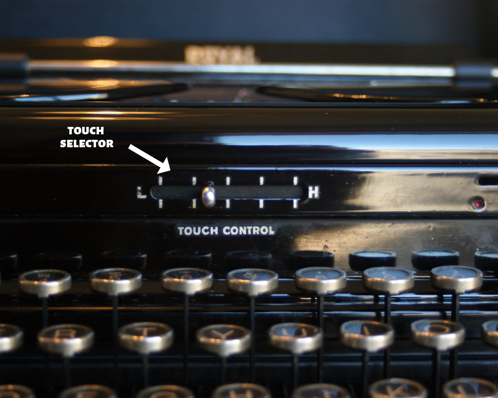 touch selector vintage typewriter