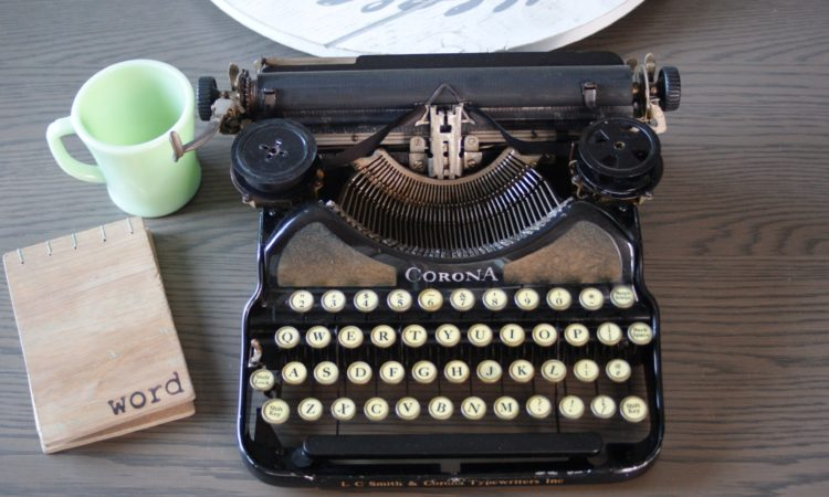 1928 corona four antique typewriter