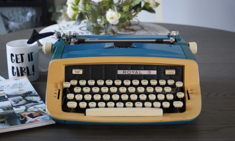 custom royal vintage typewriter