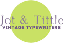 jot and tittle typewriters logo