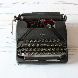 1941 Corona Sterling Jot and Tittle vintage typewriters
