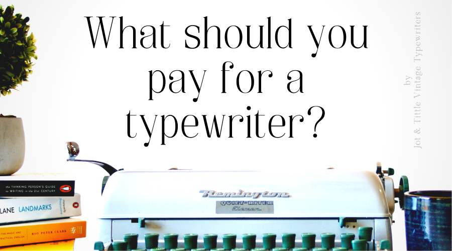 buying a vintage typewriter
