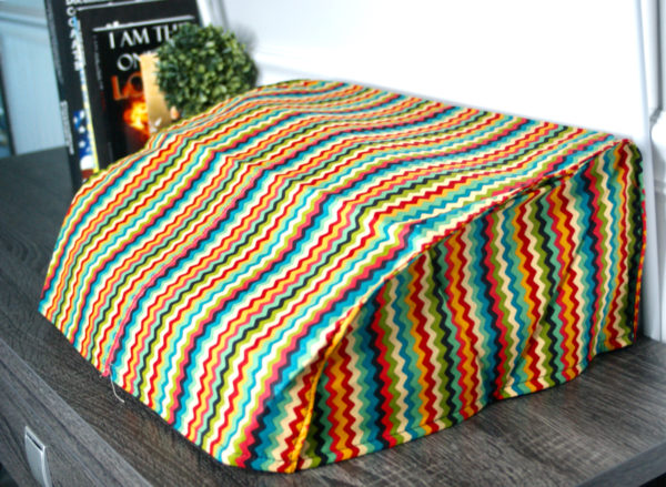 multi-color striping typewriter cover