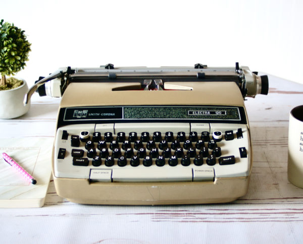 smith corona electra 120 vintage typewriter jot and tittle typewriters