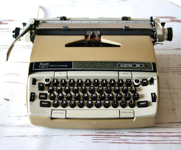 front view - electric typewriter