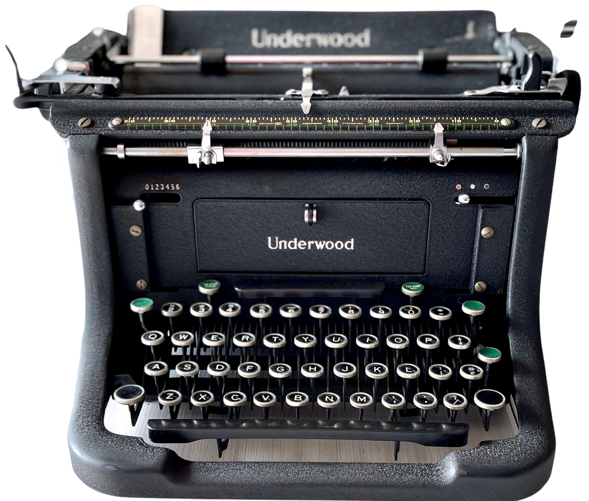 underwood black vintage typewriter